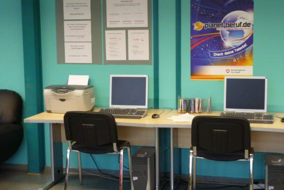 Computerarbeitsplätze im Berufsorientierungsbüro